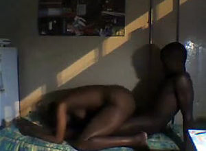 Maiden dark-hued girlfriend, ebony duo..