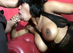 Spectacular dark-hued whore assfuck..