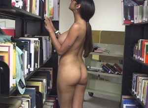 Mia Khalifa Draining in Library