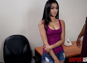Super-hot Latina Drilled by Airport..