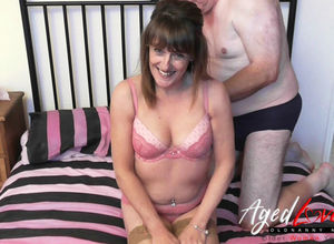 AgedLove gang-bang with wild mature..