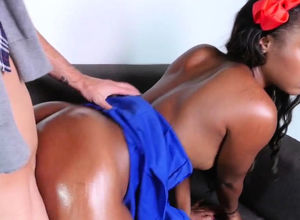 Fledgling ebony young banged